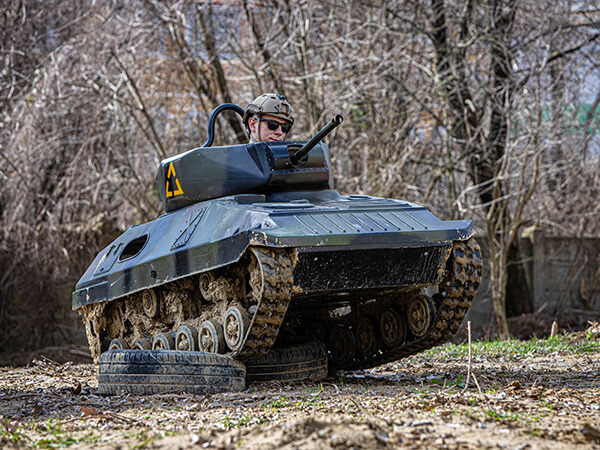 jazda na mini tanku