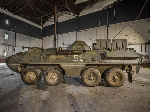 jazda na obrnenom transporteri OT64