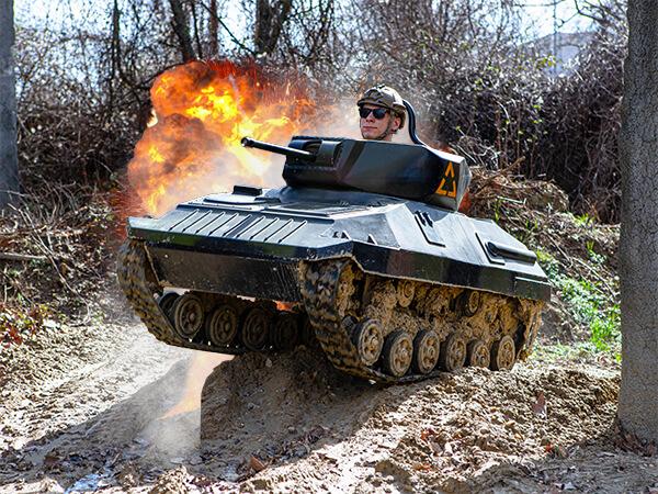 akcna jazda na mini tanku